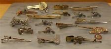 Vintage Tie Clip Lot 19 Gun Canon Arrows Car Rolleiflex Camera Key Martini Glass