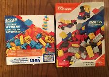 2 Mega Bloks Building Sets 130+60 pcs Blocks Giraffe Pets Car Jet Train Lego New