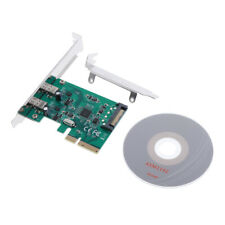 2 Ports USB 3.1 Type C to PCI Express 4X/8X/16X Adapter Expansion Card