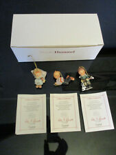 3 Ashton Drake Berta Hummel Goebel Studio Christmas Ornaments Figurines Box 12