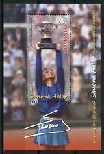 Romania 2018 MNH Simona Halep Roland Garros 1v M/S Tennis Sports Stamps