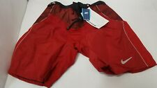 NIKE Quest Senior S Small Red Ice Hockey Player Pad Shell Pants Shorts Dri-Fit