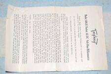 TRIPLETT 666-H POCKET V-O-M FACTORY INSTRUCTION MANUAL BOOKLET (larger version)