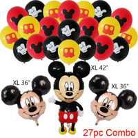 """GIANT RED 44"""" Minnie Mickey Mouse Baby Shower Boy Balloon Balloons bow tie Pink"""