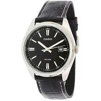 Casio Men's Core MTP1302L-1AV Black Leather Quartz Fashion Watch