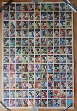 1984-85 O-PEE CHEE HOCKEY UNCUT SHEET 132 CAM NEELY CHRIS CHELIOS GILMOUR Rookie