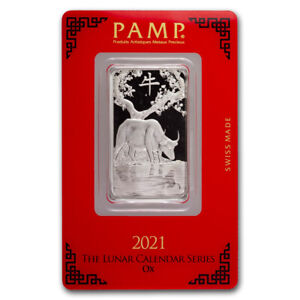1 oz Platinum Bar - PAMP Suisse (Year of the Ox) - SKU#225674
