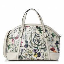 Gucci Top Handle Floral Nice Coated Canvas Convertible ShoulderBag Purse Handbag
