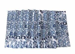 Ralph Lauren Tamarind Window Valance Porcelain Floral Bird Blue White 17x83