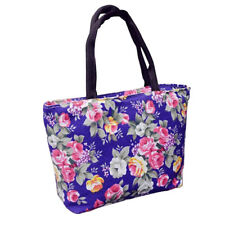 Rose Flower Women Canvas Big Capacity Shopping Handbag Tote Shoulder Bag Creativ