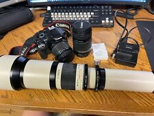 Canon Eos Rebel T2i camera with 18-55mm 55-250mm and Rokinon LR 1300mm lens kit