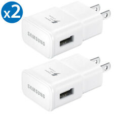 2x Samsung Adaptive Fast Charging Wall Charger For Galaxy S8 S9 S10+ Note 5 8 9