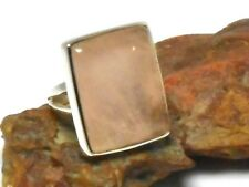 ROSE  QUARTZ  Sterling  Silver  925  Gemstone  RING  -  Size  O  -  Gift Boxed