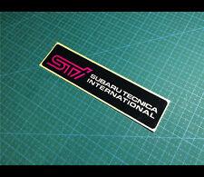 STi IMPREZA JDM WRX RS Reflective decal sticker #007
