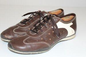 Salvatore Ferragamo Brown & Ivory Dress Sneakers Made in Italy Men's 11.5 D