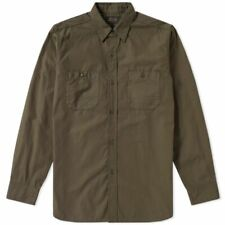 BEAMS JAPAN USN POPLIN WORK SHIRT SIZE M MEDIUM OLIVE GREEN MENS 100% COTTON JP