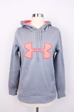 Under Armour Women's Small Gray Fleece Lined Pullover Hoodie Hooded Sweater