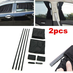 2x SUV Car Side Window Sun Visor Shade Cover Sunshade Sun Curtain UV Protector