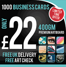 1000 Business Cards - Full Colour - Matt Laminated - Single Sided