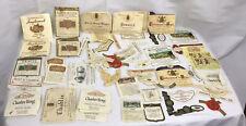 Vintage Wine Bottle Labels 50 Plus Lables 1960's -70's