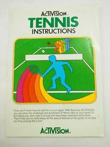 Activision Tennis Instruction Manual AG-007-03 1981