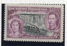 Southern Rhodesia 1937 Coronation Early Issue Fine Mint Hinged 6d. 158173