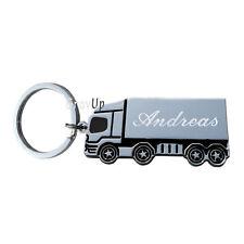"""Schlüsselanhänger  """" Truck - LKW """" mit Gravur     SA107"""