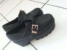 ASOS DESIGN Noticeable Chunky Platform Heeled Shoes  Black SIZE UK 6