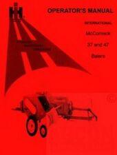 INTERNATIONAL McCormick 37 47 Balers Operators Manual