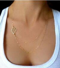 Vintage Gold Charm Chain Choker Chunky Statement Bib Pendant Necklace Jewelry