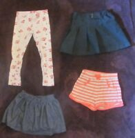 Mixed Lot Girl's Pants Shorts Skirts Size 4T Old Navy Crazy 8 Izod