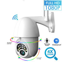 1080P HD Outdoor Waterproof WiFi PTZ Pan Tilt Security IP IR Camera Night Vision