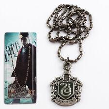 Movie Harry Potter Slytherin Black Metal Necklace NIB