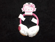 new  Hello Kitty pink sequined bow and band winter ear muffs plush trademarked
