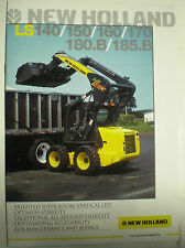 NEW HOLLAND LS140/150/160/170/180.B/185.B BAGGER SALES BROCHURE ENGLISCH