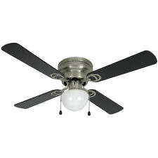 "42"" Satin Nickel Flush Mount Hugger Ceiling Fan 543611"
