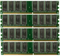 Low Density 4GB 4x1GB PC3200 DDR400 184pin DDR1 NON-ECC DIMM Desktop Memory