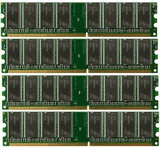 Low Density 4GB 4x1GB PC3200 DDR400 184pin DDR1 NON-ECC DIMM Desktop Memory