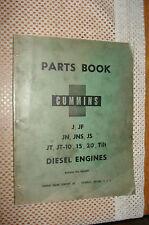 Cummins J Jf Jn Jns Js Jt Jt-10 15 20 Tilt Diesel Eng. Parts Catalog Book Manual