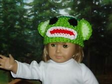 Green Sock Monkey Hat Doll Clothes fits American Girl
