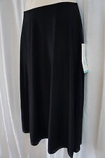 Patra Skirt Sz 8 Solid Black Evening Business Casual Cocktail Party Dinner Skirt