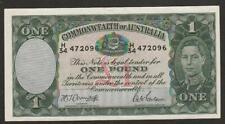 1942 AUSTRALIA 1 POUND NOTE AU+