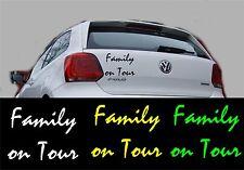 Autoaufkleber Sticker Tattoo - Family on Tour Größe: 10 cm x 8 cm -Artikel 673