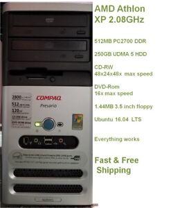Compaq Presario S6200CL AMD Athlon 2.08GHz 512MB RAM 250GB HDD  Free Shipping