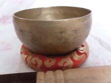 "6"" Sixth Chakra Tibetan Singing Bowl,Beaten Hammered Singing Bowls, Meditation"