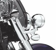 Eagle Lights Chrome Auxiliary Lighting Brackets and Buckets For Harley Davidson