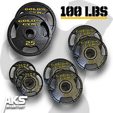 100 Pound Olympic Plate Set Home Gym Fitness Exercise Cast Iron Weight Plates
