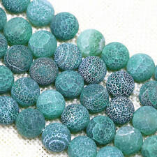 6mm 8mm 10mm 12mm Green Dream Fire Agate Gemstone Round Loose Beads 15''