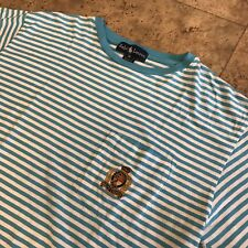 Very Rare Ralph Lauren Polo Crest Striped Pocket Tee Made In The USA
