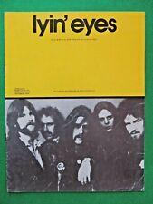 LYIN' EYES Vintage 1975 Australian sheet music recorded by THE EAGLES